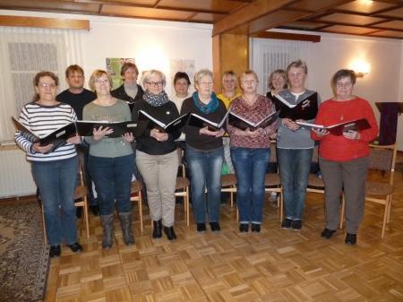 Der Chor mit Kantor Neumeister