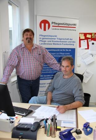 Herr Deigmann und Herr Engel vom Pflegestützpunkt des Landkreises