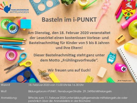 Meldet euch in der Bücherei Satrup an oder unter bildung@gemeinde-mittelangeln.de