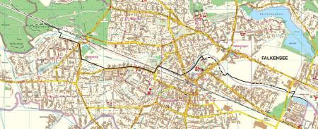 Unser Bild zeigt den Radweg der Sympathie, der Falkensee mit Brieselang und Spandau verbindet.
