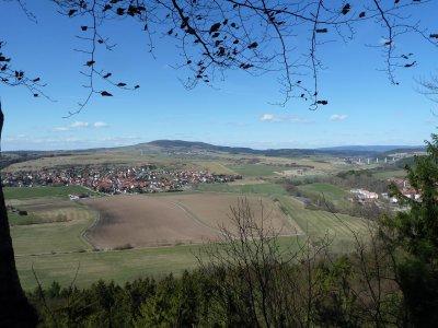 Rohr mit dem Dolmar, A 71 und Ortsteil Kloster