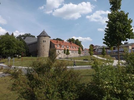 der Westflügel des  Schlosses Harzgerode ist saniert
