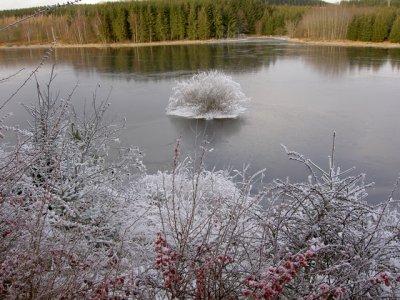 zugefrorener Teufelsteich