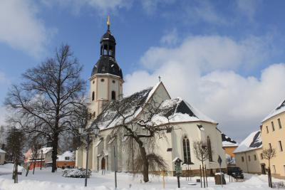 Die St. Ulrich Kirche in Schlettau.