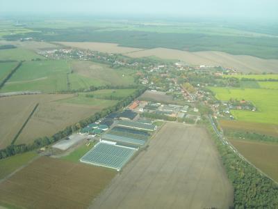 Luftbild der Gemeinde Wöbbelin 2008