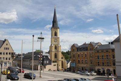 St.-Jakobi-Kirche Stollberg mit Markt