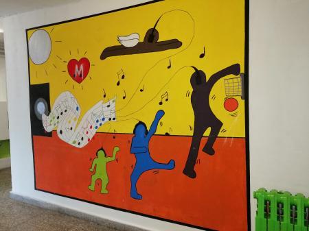 Wandgemälde - gestaltet von Kindern und Jugendlichen