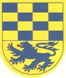 Das Wappen der Samtgemeinde Velpke ist im geteilten Schild oben von Blau und Gold (Gelb) sechzehnfach in 4 Reihen geschachtet und zeigt unten in Gold (Gelb) einen schreitenden rotbewehrten und rotbezungten Löwen.