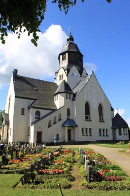 Die Kirche in Wiesa.