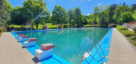 Blick ins große Schwimmbecken Foto:Robert Braun
