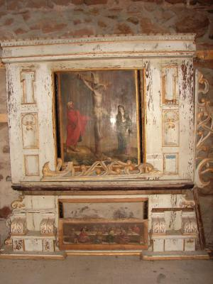 Foto zur Meldung: Der alte Altar der Beerfelder Kirche