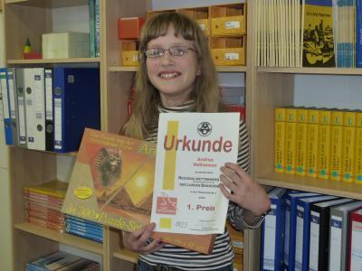 Foto zur Meldung: 1. Platz beim Südbrandenburger Regionalwettbewerb der Mathematikolympiade
