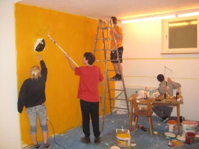 Foto zur Meldung: Jugendgemeinderat renoviert Jugendraum