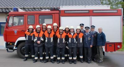 Foto zur Meldung: Feuerwehr Brand absolviert Leistungsprüfung