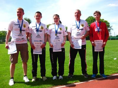 Foto zur Meldung: 5 Medaillen bei Landesmeisterschaften im Bahnlauf, für den SC Laage