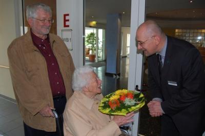 Foto zur Meldung: Überraschungsgäste und ein Glückwunsch im Namen des Bürgermeisters