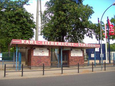 Foto zur Meldung: Karl-Liebknecht-Stadion im Bau