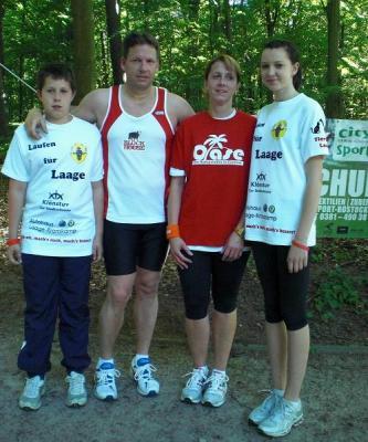 Foto zur Meldung: Clubläufer aus Laage beim Lex Spendenlauf in Rostock