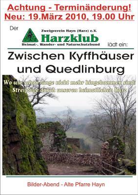 Foto zur Meldung: Bildervortrag Harz 19.03.2010 in der Alten Pfarre