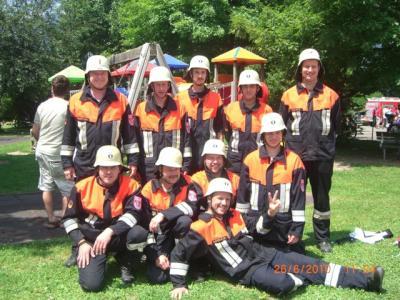 Foto zur Meldung: Feuerwehr Fuhrmannsreuth beim Internationalen Feuerwehrwettkampf in Lana/Südtirol erfolgreich