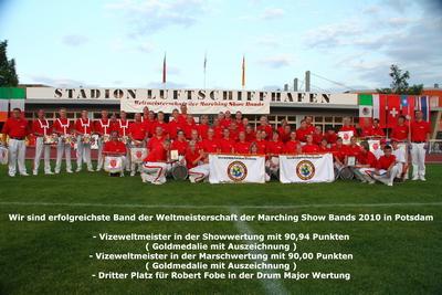 Die erfolgreichste Band der Weltmeisterschaft der Marching Show Bands 2010 in Potsdam