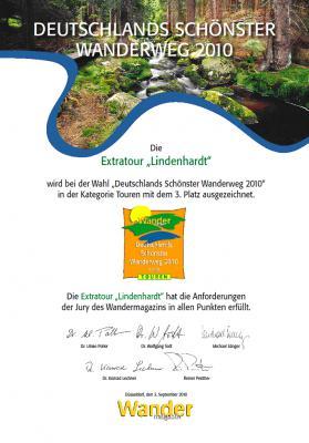Foto zu Meldung: Lindenhardtweg ist Deutschlands drittschönster Wanderweg