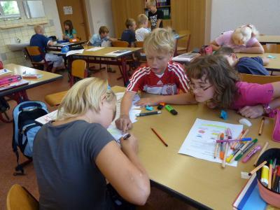 Foto zur Meldung: Gelungener Schuljahresstart in der Grundschule Gröden
