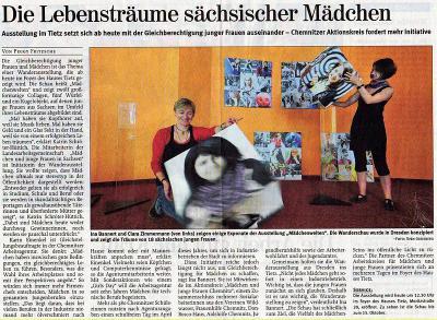 """Foto zur Meldung: Ausstellung zu  """"Mädchenwelten""""  in Chemnitz eröffnet"""