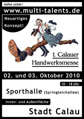 Foto zur Meldung: 1. Calauer Handwerksmesse in der Sporthalle am 2. und 3.Oktober 2010