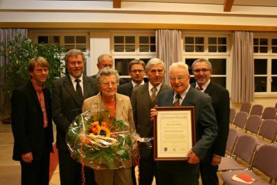Foto zur Meldung: Karl Söllner Ehrenbürger der Gemeinde Brand