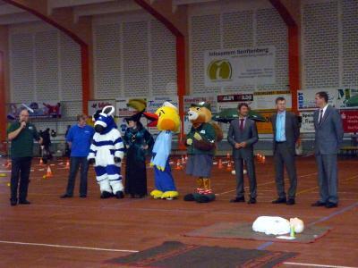 Foto zur Meldung: Verkehrssicherheitstag in der Niederlausitzhalle 2010