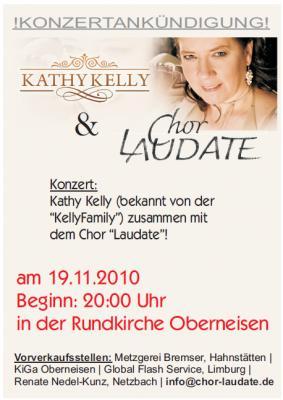"""Foto zur Meldung: Festliches Gemeinschaftskonzert: Kathy Kelly & Chor """"Laudate"""" am 19. November 2010 in der Rundkirche Oberneisen!"""