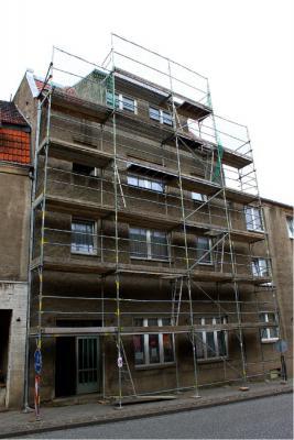 Foto zu Meldung: Sanierung des kommunalen Wohngebäudes Marktstraße 56