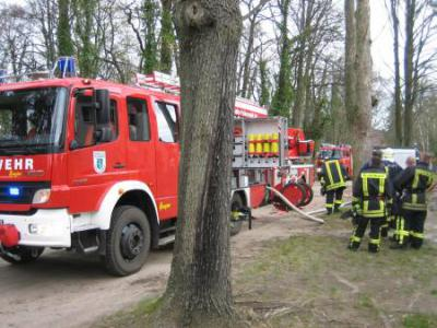 Foto zur Meldung: Rascher Einsatz der Feuerwehr verhinderte Schlimmeres