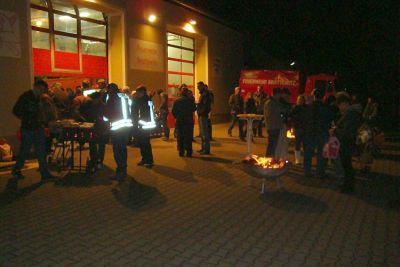 Foto zur Meldung: Rückblick auf das Martinsfeuer in Brottewitz