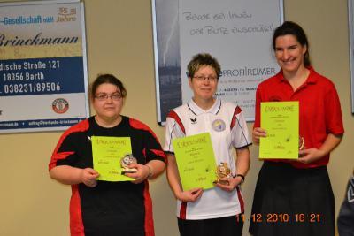 Foto zur Meldung: Laager Kegelerinnen räumen bei Kreismeisterschaften ab