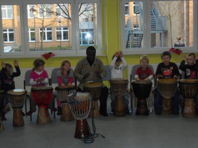 Foto zur Meldung: Trommlerfest im Hort