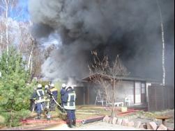 Foto zur Meldung: Brandeinsatz unserer Freiwilligen Feuerwehr