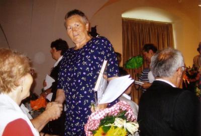 Foto zur Meldung: Ehrung von Frau Elvira Saegebrecht für ihre ehrenamtliche Arbeit