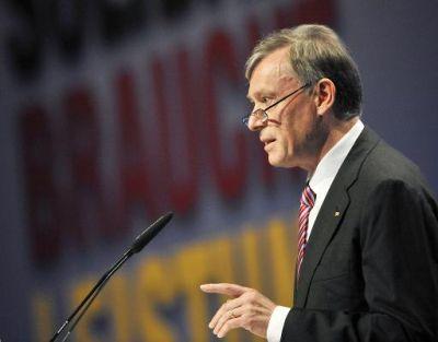 Foto zur Meldung: Bundespräsident Horst Köhler zu Besuch am Grenzdenkmal