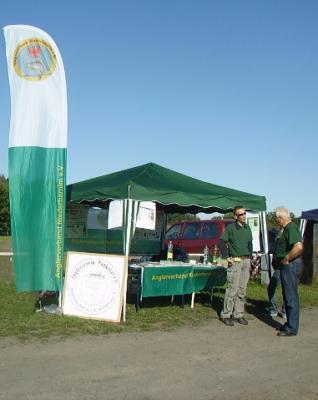 Foto zur Meldung: Info-Stand des Anglervereins auf Panketaler Gemeindefest