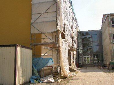 Foto zur Meldung: Sanierung des Falkenseer Gymnasium liegt voll im Zeitplan - Ostflügel schon im neuen Gewand
