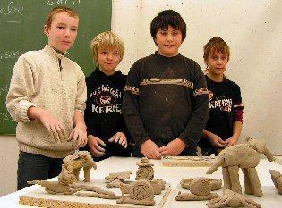 Foto zur Meldung: Schnuppern, ob die Schule schmeckt - Schnuppertag für die Sechsklässler an der Kantschule Falkensee