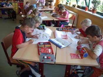 Foto zur Meldung: Schulanfangsprojekt - Grundschule Guteborn