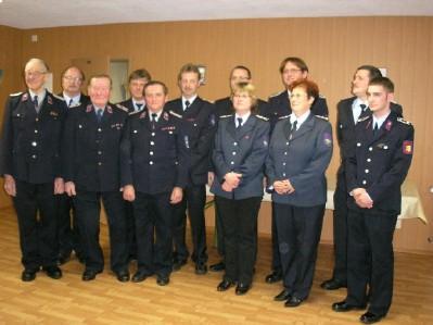 Foto zu Meldung: Treue Dienste in der Feuerwehr wurden geehrt