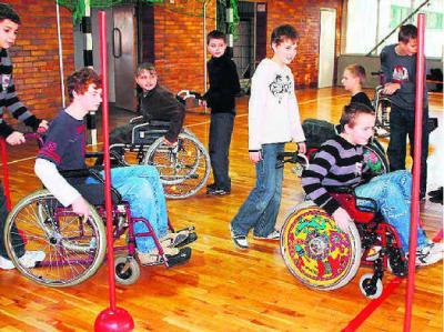 Foto zur Meldung: Projekttag - Menschen mit Behinderungen