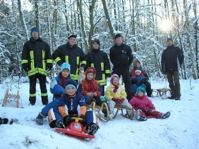 Foto zur Meldung: Winterspaß im Merzdorfer Wald