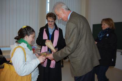 Foto zu Meldung: Bürgermeister begrüßt junge Gäste aus dem Andenland