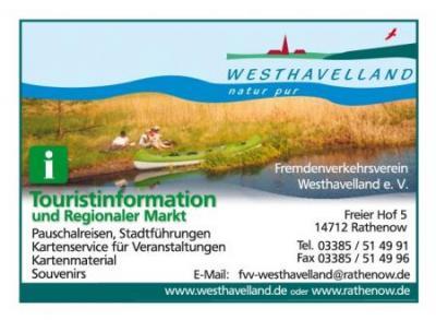 Foto zur Meldung: Die neuen Seiten des Fremdenverkehrsverein Westhavelland