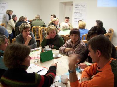 """Foto zu Meldung: Ergebnisse des """"IdeenCafe für ein Lebendiges Miteinander Teil II"""" in Hasenfelde am 18.2.2009"""